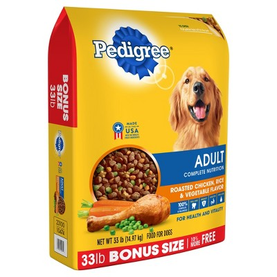 Pedigree Adult Complete Nutrition Roasted Chicken Rice Vegetable