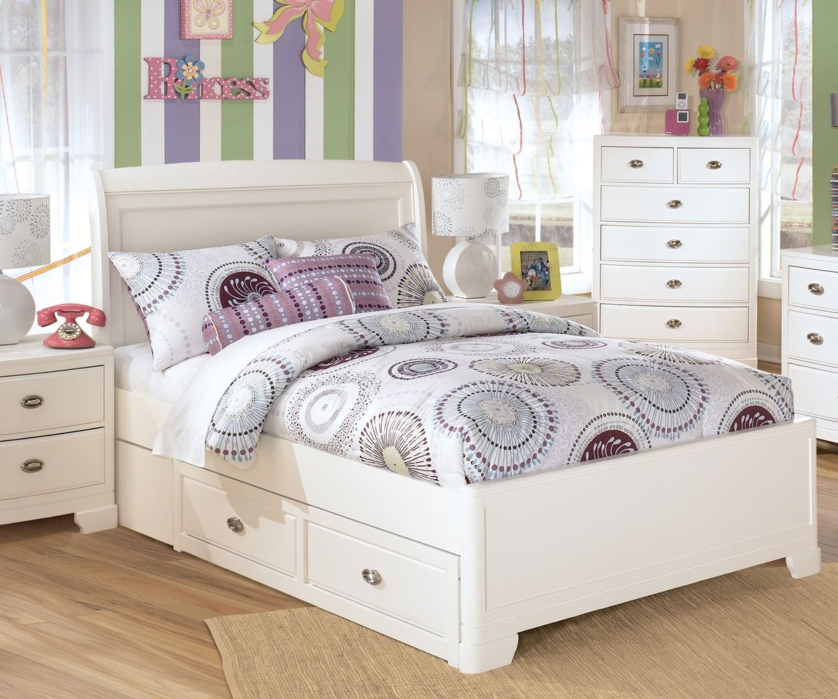 Buy Ashley Kids Furniture Alyn Full Platform Bed With Drawers At Kids Furniture Warehouse O