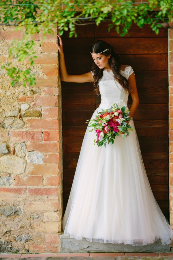 lace and polka dot wedding dress by couture hayez // photo: marian bader