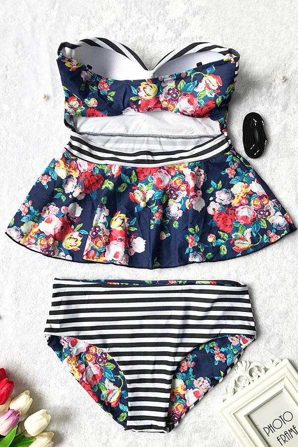 062c09ab1e Floral Printing Two-piece Swimsuit en 2019 | bañadores | Swimsuits ...