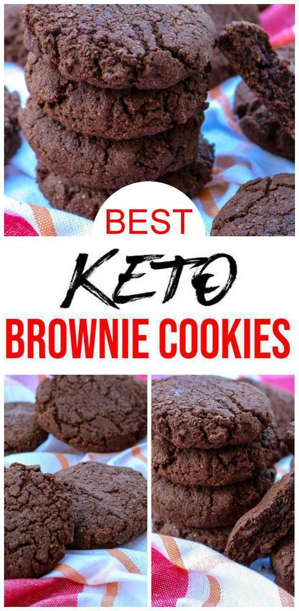 BEST Keto Cookies! Low Carb Keto Chocolate Brownie Cookies Idea – Quick & Easy Ketogenic Diet Recipe – Completely Keto Friendly #ketocookierecipes