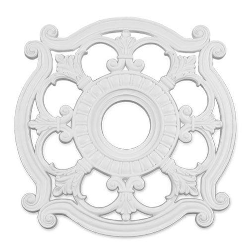 Victorian White Finish Molded Plastic Ceiling Medallion WESTINGHOUSE-7702800