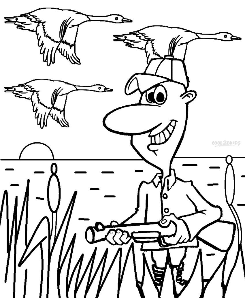 duck hunting coloring pages - Hunting Coloring Pages