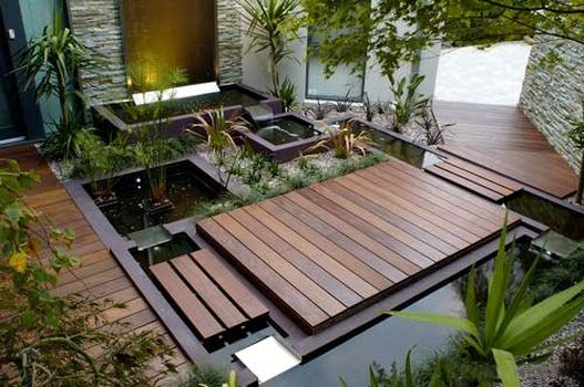 15 Ide Desain Kolam Ikan Minimalis Modern 7 Backyard Landscaping