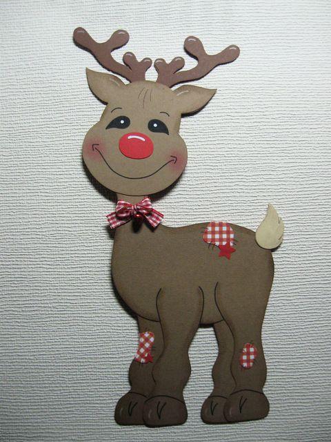 Fensterbild Rentier Rudi Weihnachten Aus Tonkarton Fensterbilder Weihnachten Basteln Fensterdeko Weihnachten Basteln Basteln Weihnachten