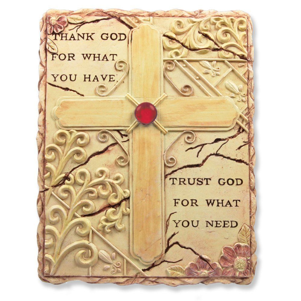 Religious Inspirational Wall Art Sign Hanging Plaque - Engraved with ...