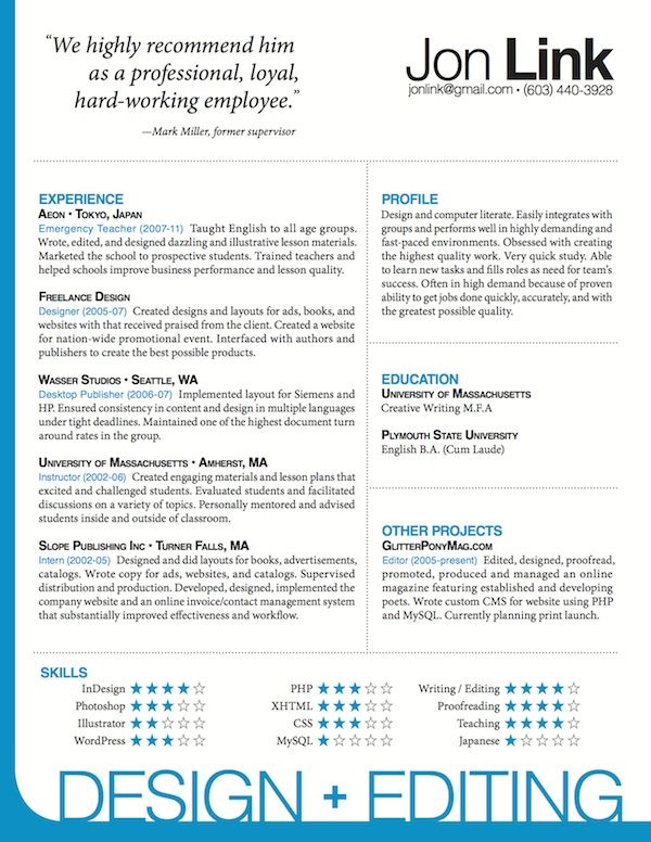Indesign Resume Templates Free #834 - http://topresume.info/2014/12 ...