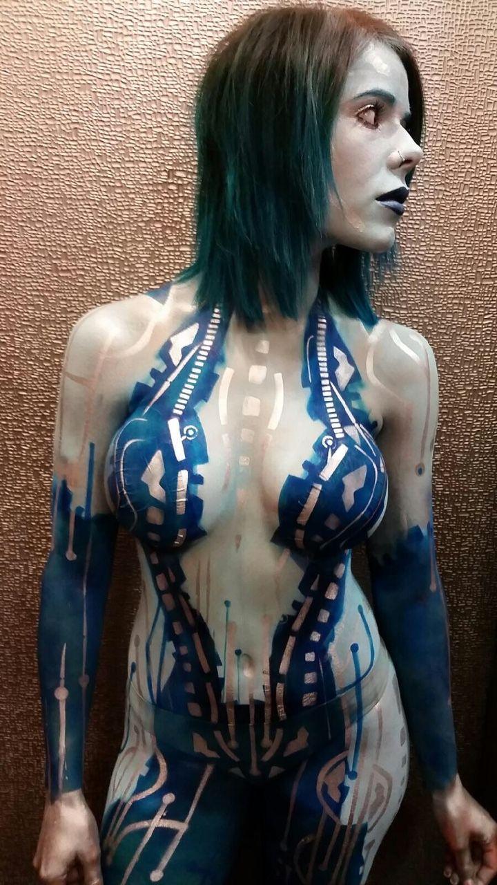 Cortana Body Paint