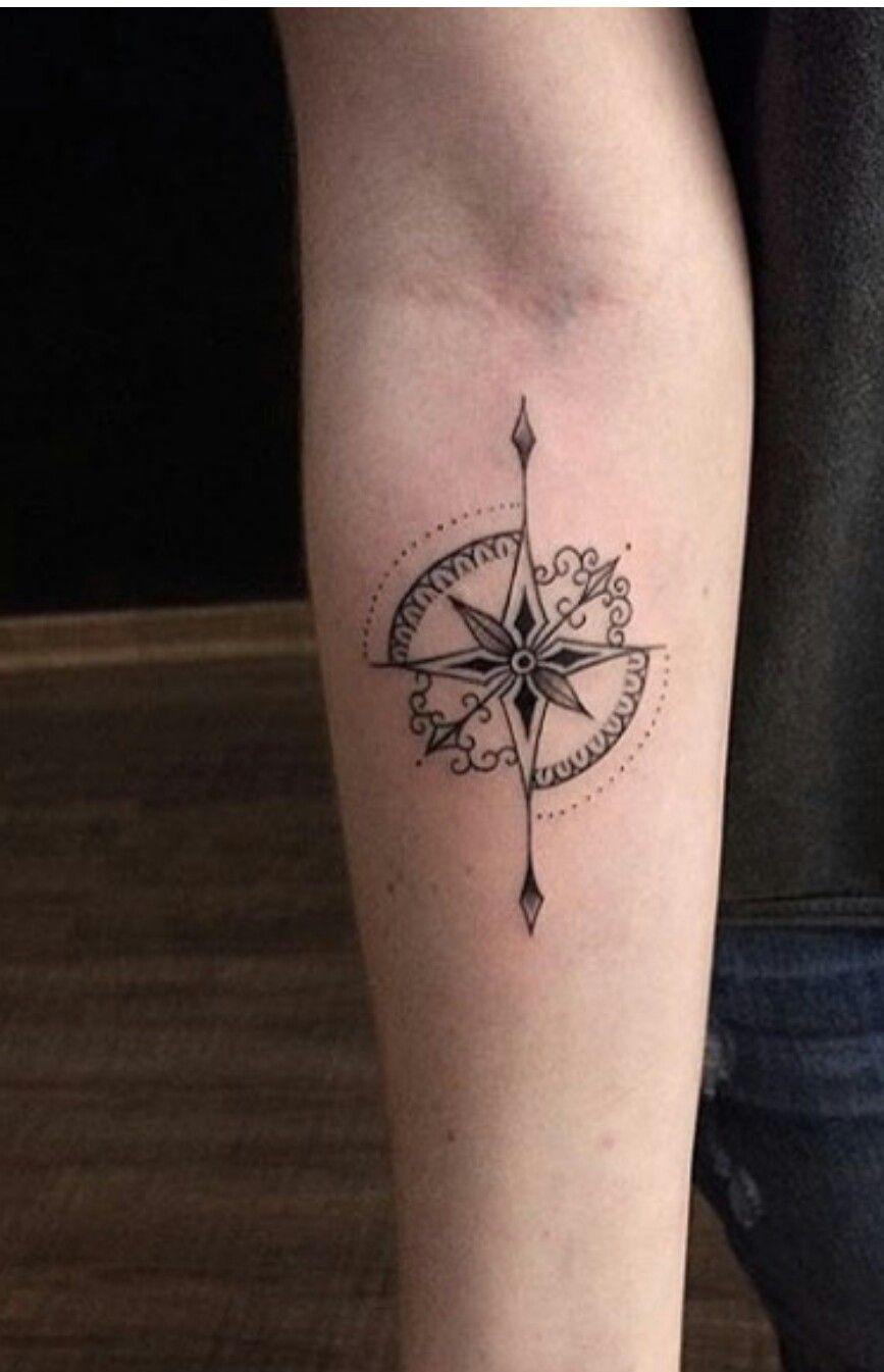 5c8e8a10d2980 Kinda like these points. | Tattoos | Tattoos, Compass tattoo ...