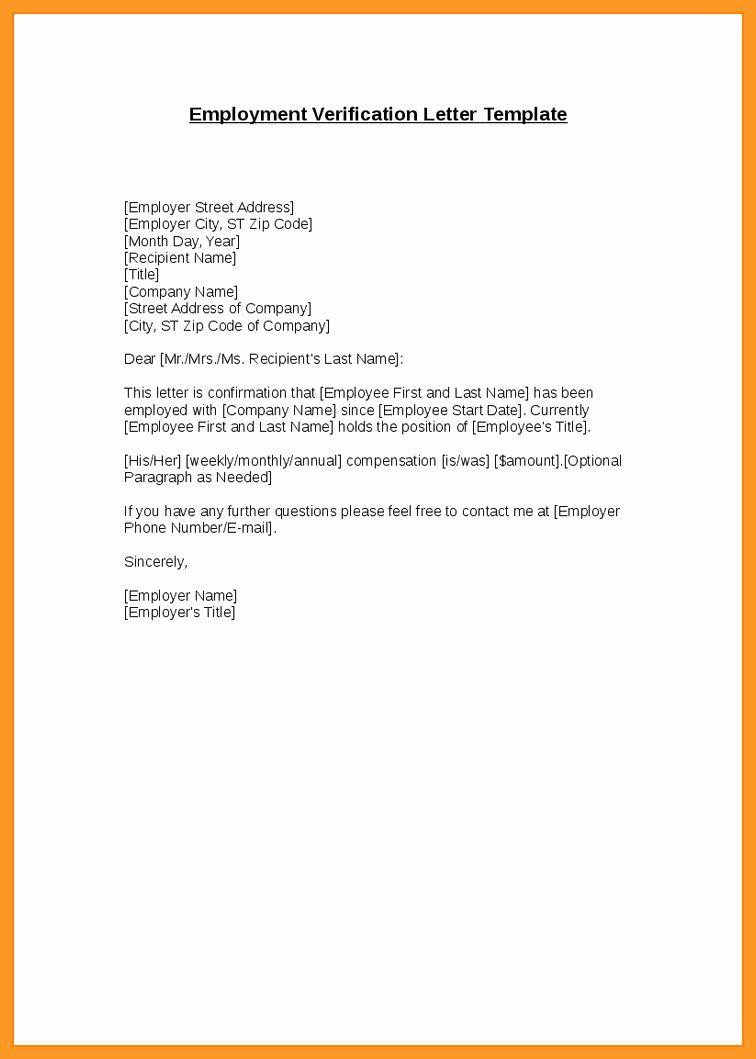 Unemployment Verification Letter Sample Awesome 9 10 Letter Unemployment Verification Dannybarrantes Template Lettering Letter Sample Word Template