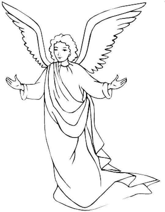 angeles dibujos para colorear | dibujo religioso | Angel coloring