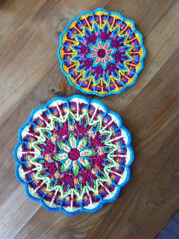 Mandala Haken Gaaf Om Te Maken Yarn Haken Breien Haakwerk