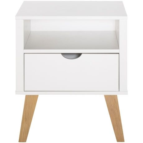 frieda 1 drawer bedside table freedom furniture and homewares