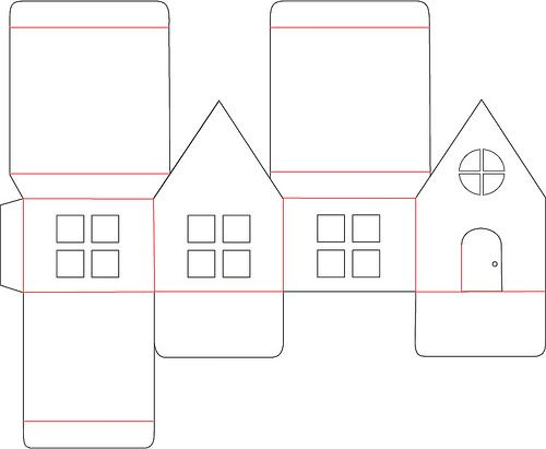 Paper House Paper House Template House Ornaments