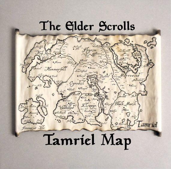 Fantasy Karte.Tamriel Karte Skyrim Tes Karte Die Tamriel Empire Karte