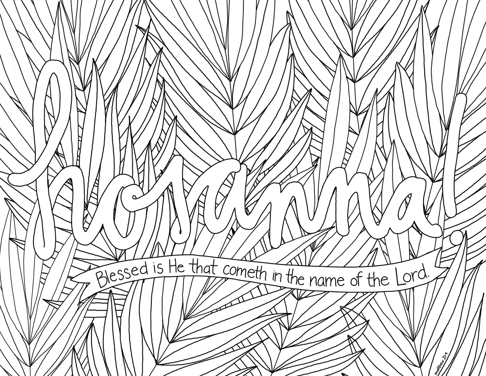 just what i {squeeze} in: Hosanna! -- Coloring Page #8 | bible ...