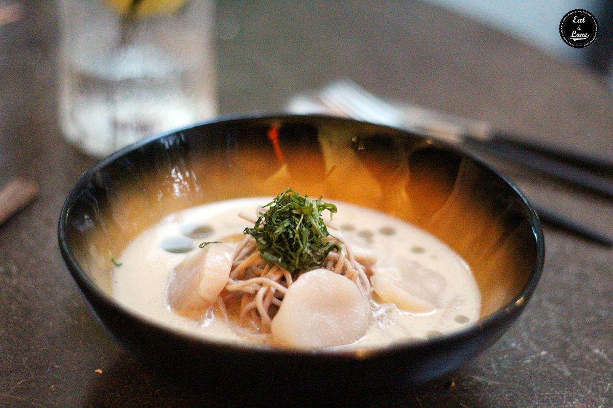 Vieira de Hokkaido con noodles soba - 47 Ronin restaurante japonés Madrid