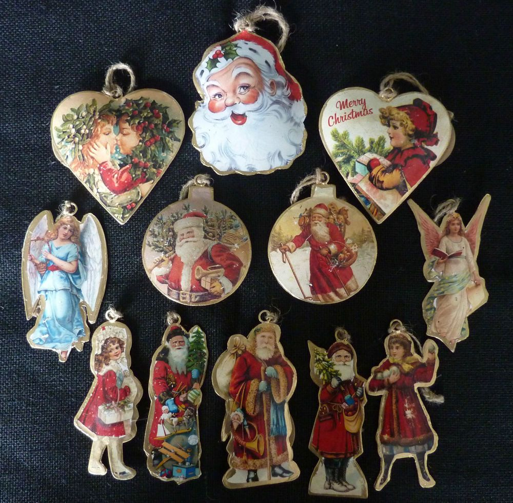 Old Christmas Tree Decorations: Vintage Style Metal Victorian Christmas Tree Decorations