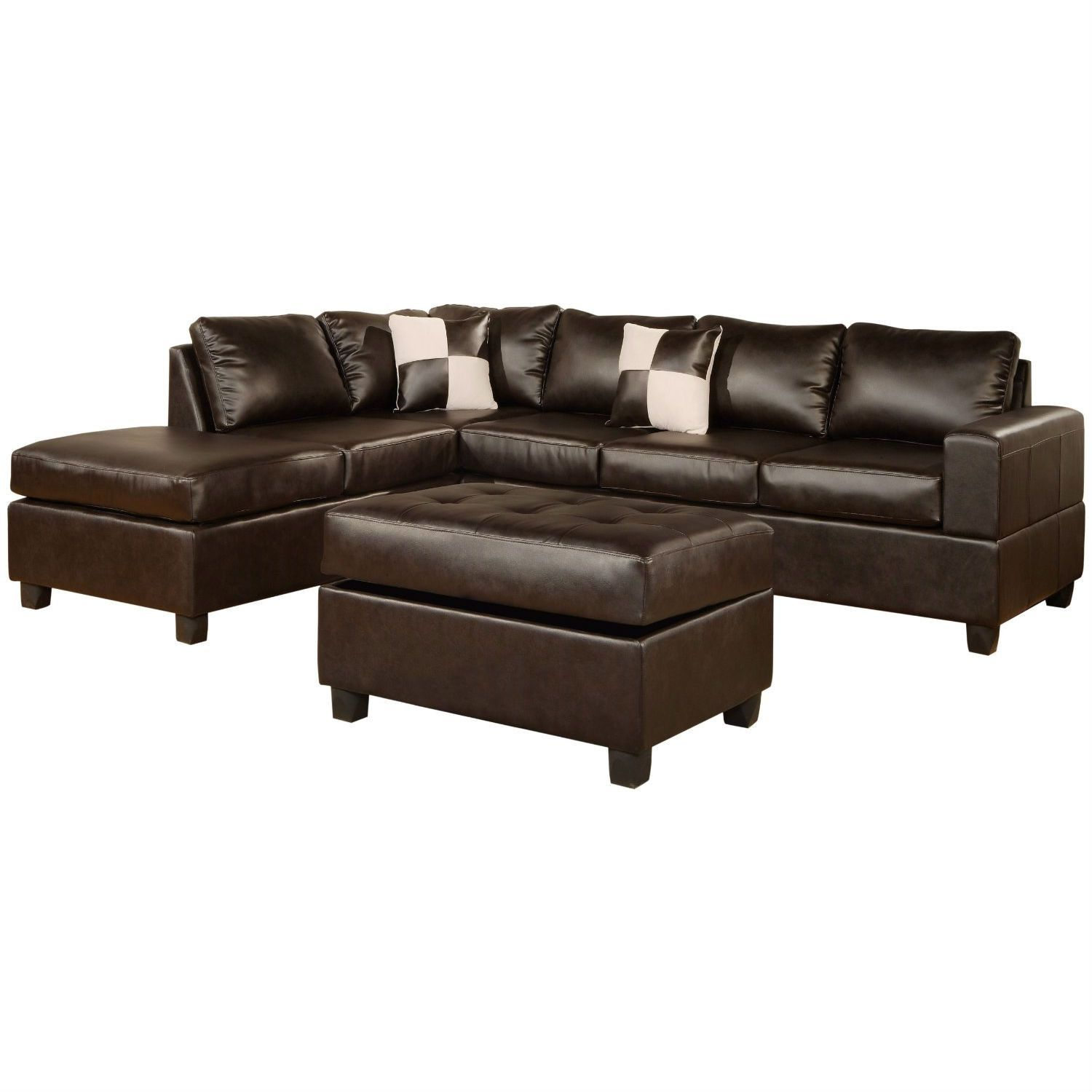 Bernhardt van gogh 2 piece leather sectional ebay - Traditional Sectional L Shaped Sofa Design Ideas For Living Room Furniture With Sweet Brown Leather Sofa Frame Covers And Soft Brown Square Shaped