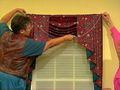 How To Swag And Jabot Curtain Patterns Curtain Sewing