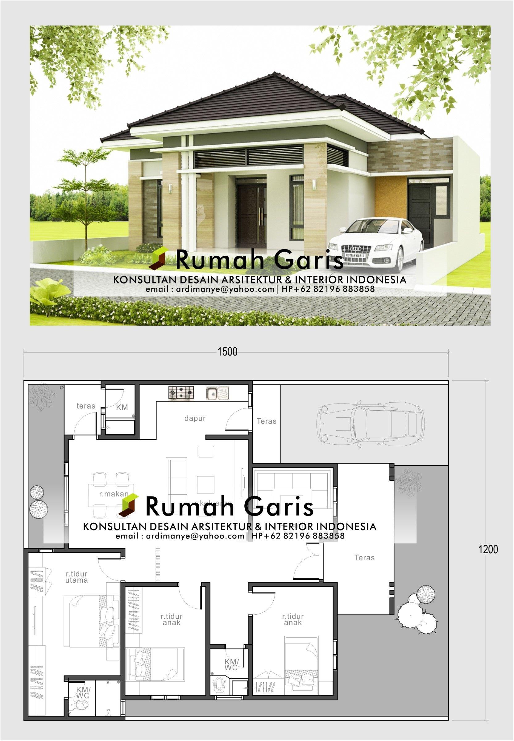 Noman Design Di Instagram Jasa Desain Rumah Harga Mulai Rp 250 Ribu Desain Bp Andi 1 Lantai Demak Luas Lahan Arsitektur Rumah Rumah Indah Desain Rumah
