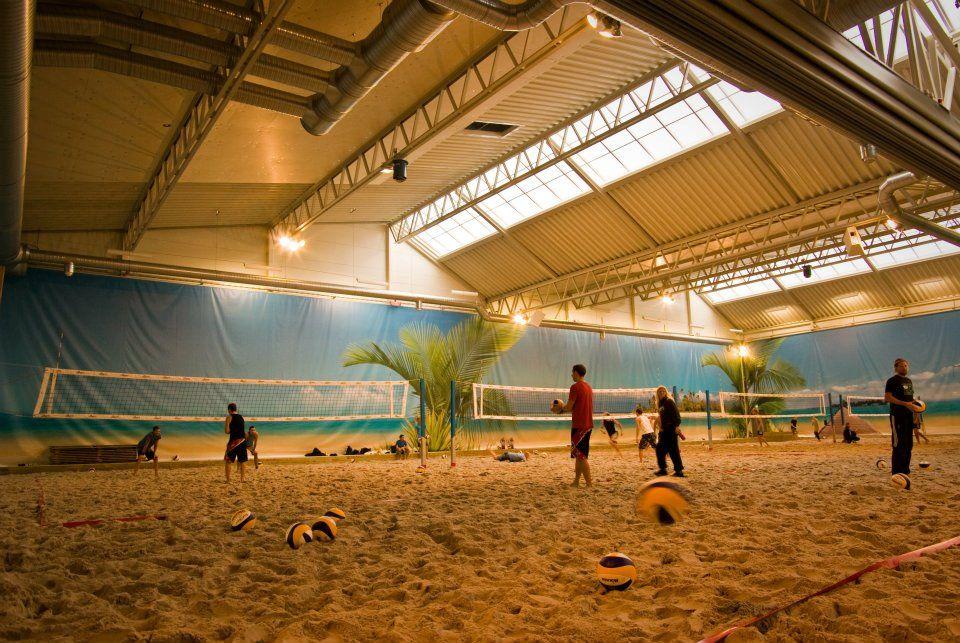 Worlds Largest Indoor Beach Volleyball Complex in Sweden