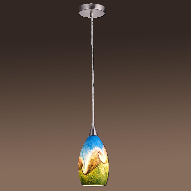 YOBO Lighting Fixture Kitchen Art Glass Ceiling Pendant Light - Kitchen pendant lighting amazon