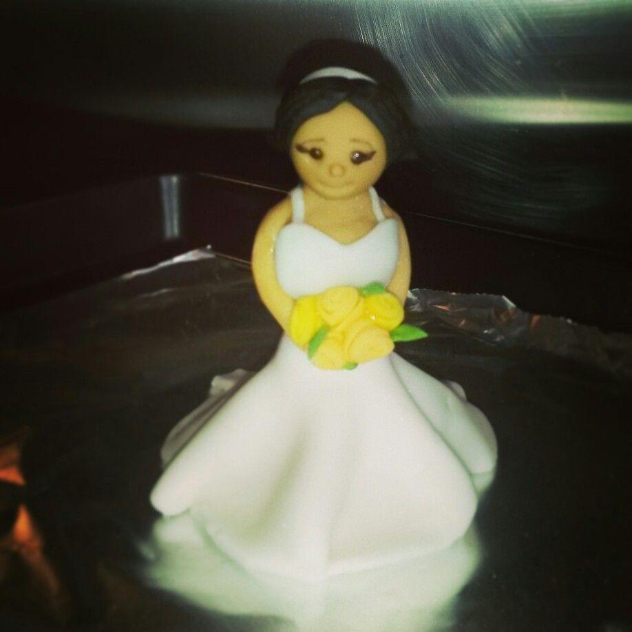 Wedding Cake Topper Bride Figure Sugarcraft Dress