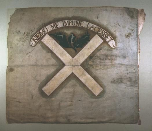 Jacobite flag banner from The Battle of Culloden 1746