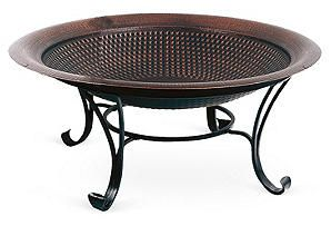 "One Kings Lane - The Perfect Patio - 30"" Copper-Finished Fire Pit"