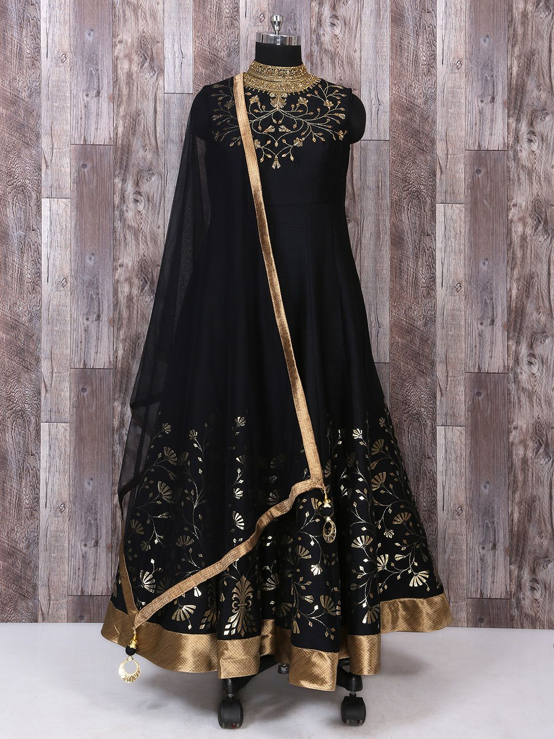 Anarkali Suit In Black Color For Party Function Designer Suit Party Wear Indian Fashion Fas Party Dresses For Women Party Wear Maxi Dresses Gown Party Wear