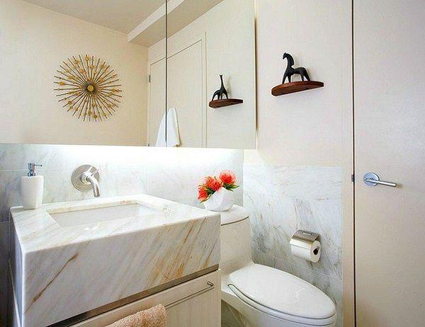 conception petite salle de bain cratif dcoration murale sculpture style grec - Salle De Bain Decoration Murale