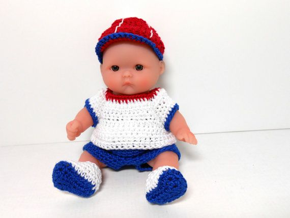 Berenguer Lots to Love Red White and Blue by KnitAndCrochetPalace, $30.00