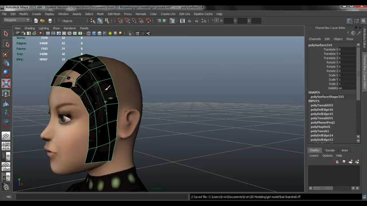 Creating Hair With Transparency Maya Photoshop Also How To