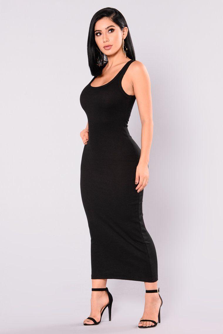 2e0cb2f8f6a Mulberry Midi Dress - Black
