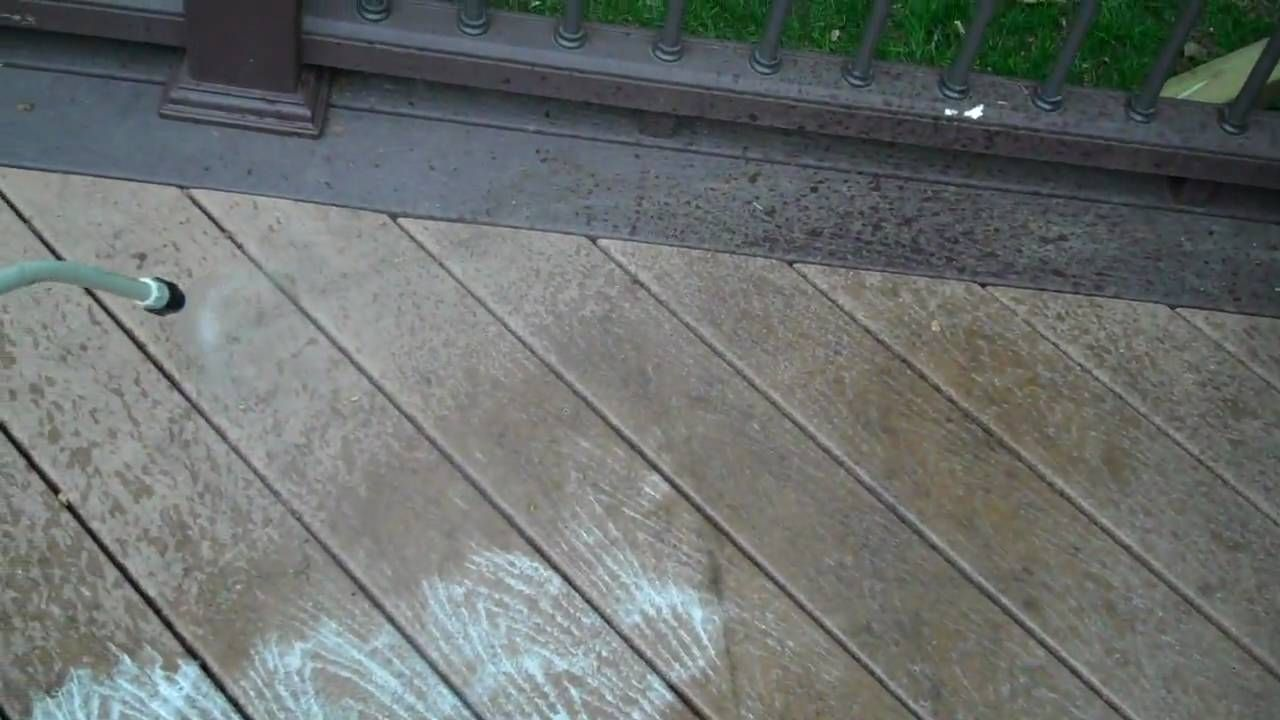 How to Clean a Composite Deck.wmv