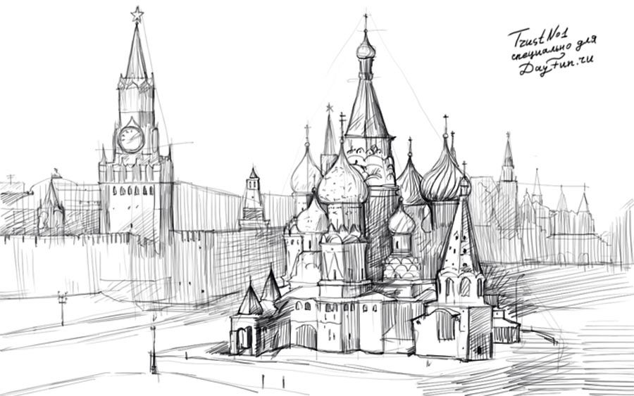 картинки красной площади в москве карандашом необходимо всего