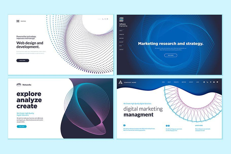 Web Page Abstract Design Templates In 2020 Template Design Abstract Design Web Design