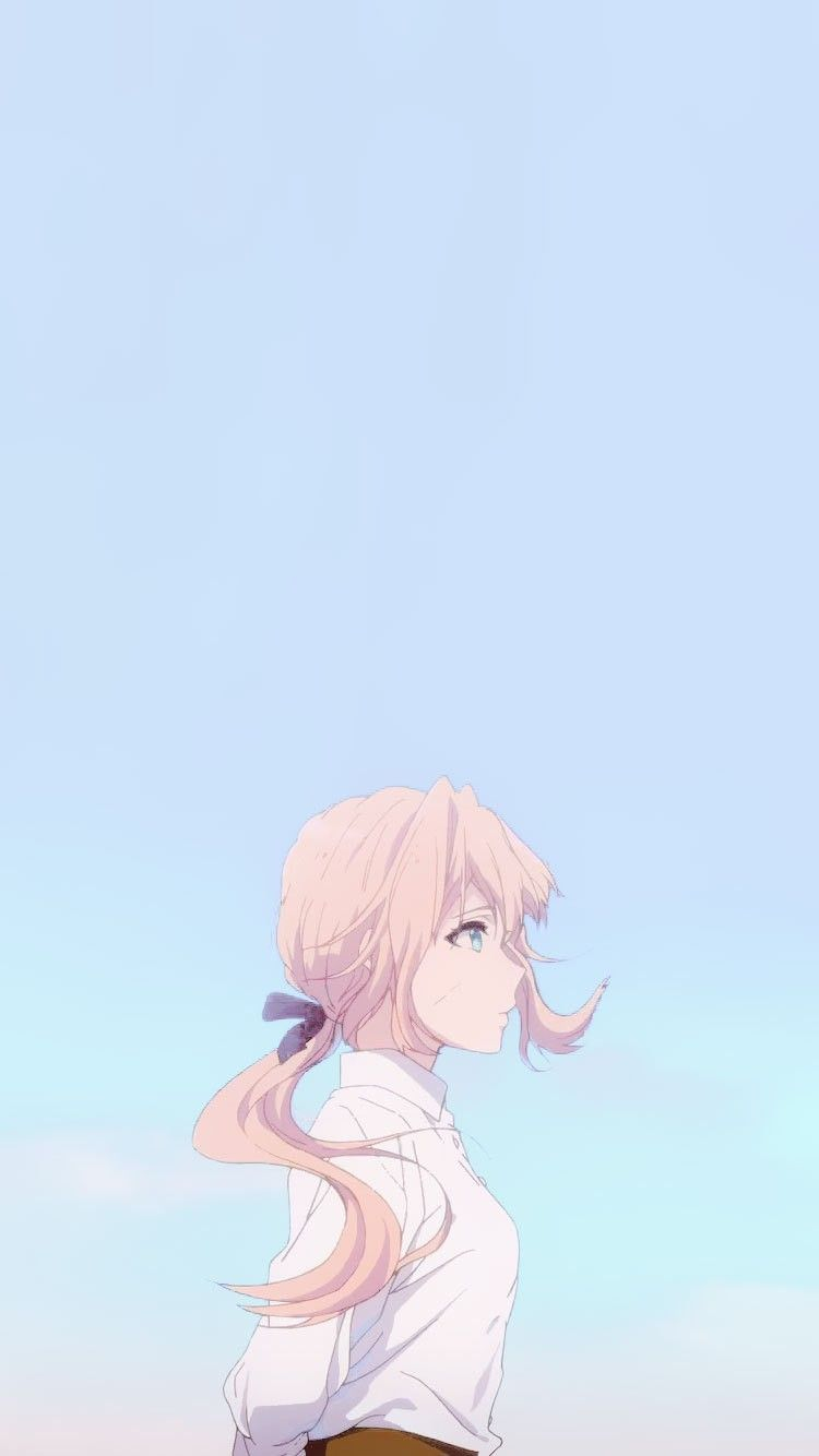 Iphone Soft Aesthetic Iphone Aesthetic Wallpapers Anime In 2020 Cute Anime Wallpaper Violet Evergarden Anime Anime Wallpaper