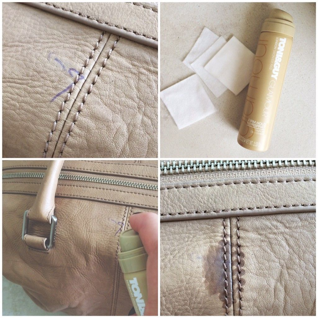 In My Bag HOW TO REMOVE PEN MARKS FROM A LEATHER BAG