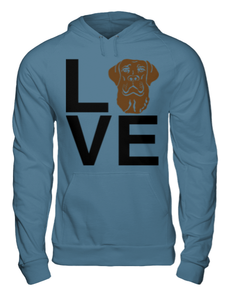 This Chocolate Lab Love hoodie is an A Dog's Love™ exclusive for chocolate Labrador retriever lovers who spell true love with a lab! Now you can show off your chocolate lab pride with our popular Lab