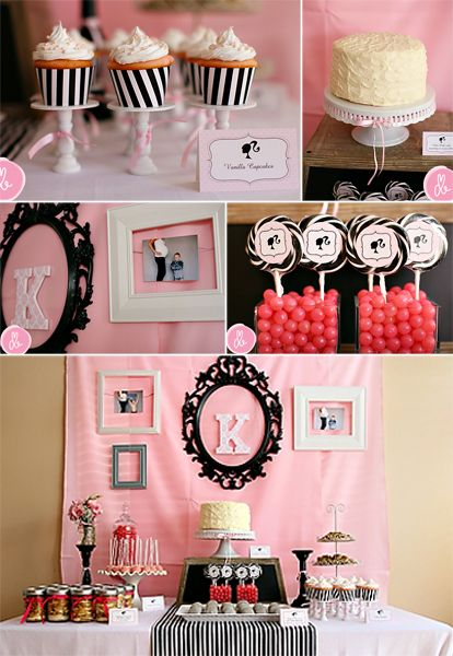 The Bengards Drews Vintage Barbie Baby Shower Pink Party Ideas