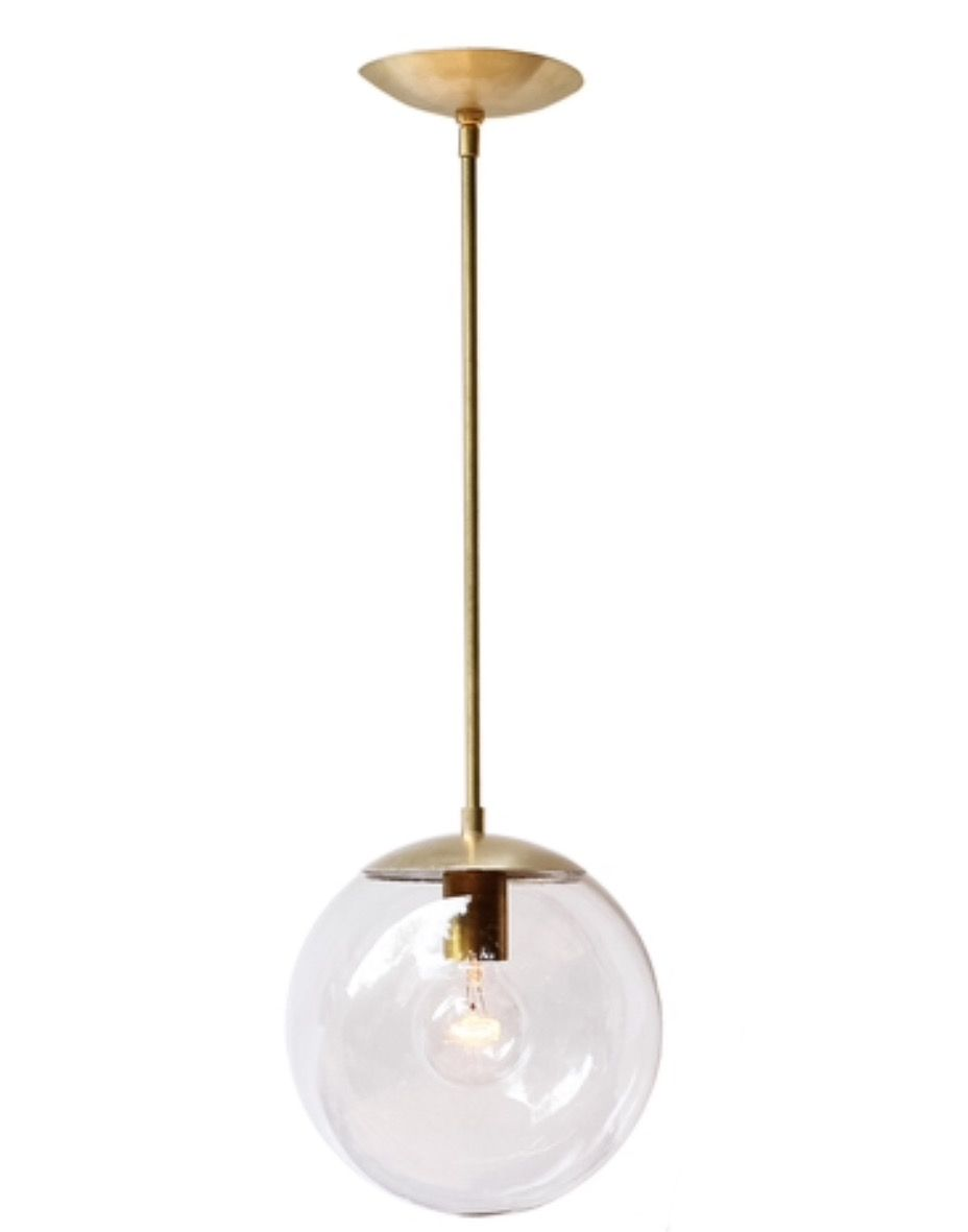 Pin By Jamie Pearson On Final Kitchen Concept Gold Globe Kitchen Pendants Kitchen Pendant Lighting