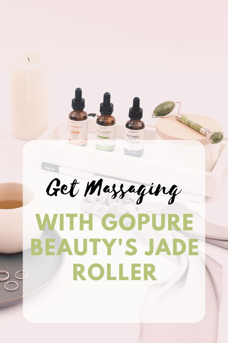 Get Massaging With Gopure Beauty S Jade Roller In 2020 Jade Roller Skin Care Beauty Skin Care