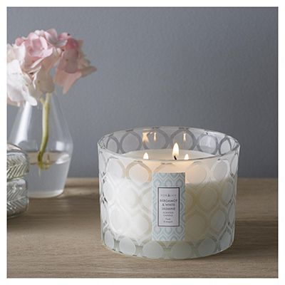 Fox Ivy Bergamot White Jasmine Luxury Scented 3 Wick Candle Tesco Candles Home Accessories Candles