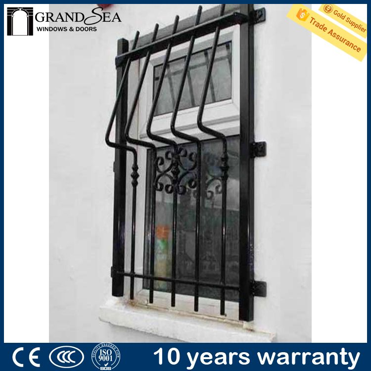 2017 latest low price simple iron window grills alibaba for Fenetre fer forge 2017