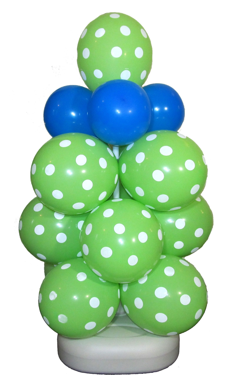 Diy balloon columns - Mini Polka Dot Balloon Column Diy
