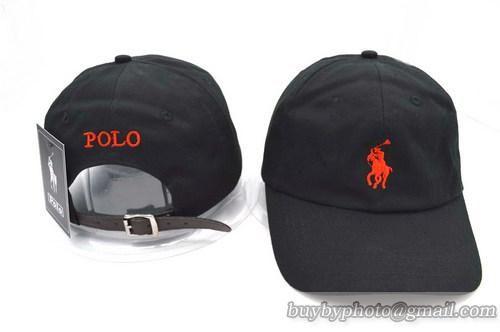 a4d11cc071a90 Polo Strapback Baseball Cap Black