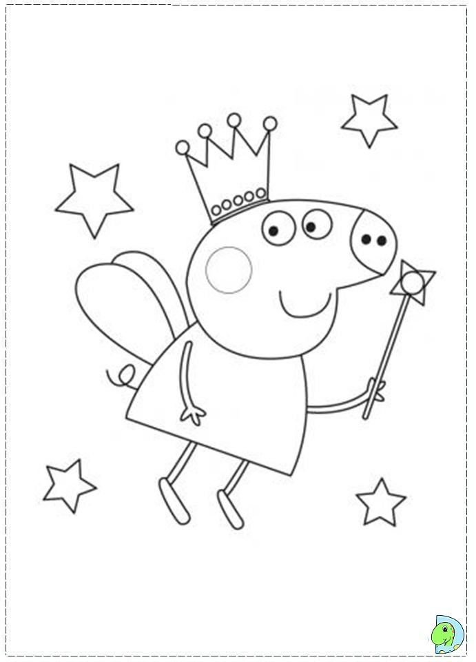 picture about Peppa Pig Template Printable named Cost-free Printable Coloring Internet pages #coloringpages Coloring in just