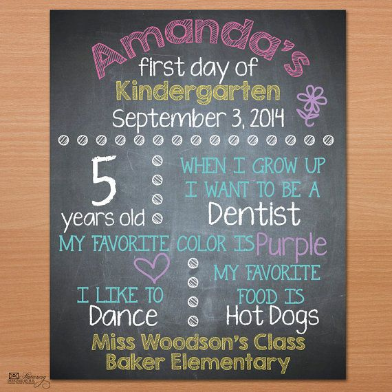 Woodson On Why Kindergarten Is Too Late >> Printable First Day Of School Sign Diy Chalkboard Sign Back To